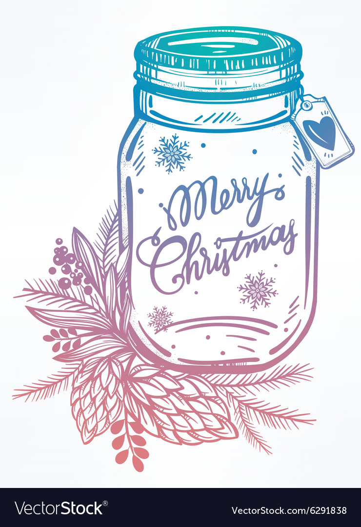 Ormate christmas greeting card vector