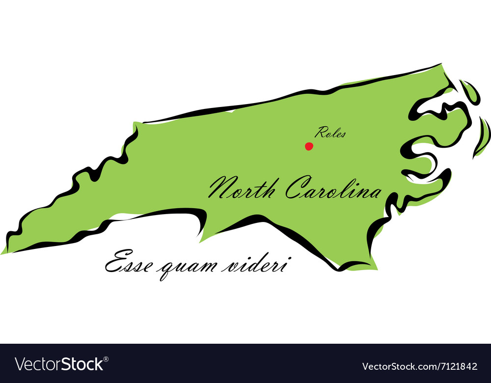State of north carolina vector