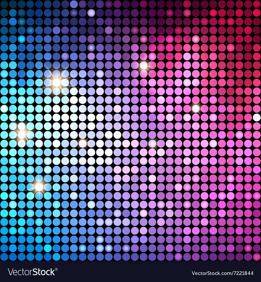 Colorful dots abstract disco background vector