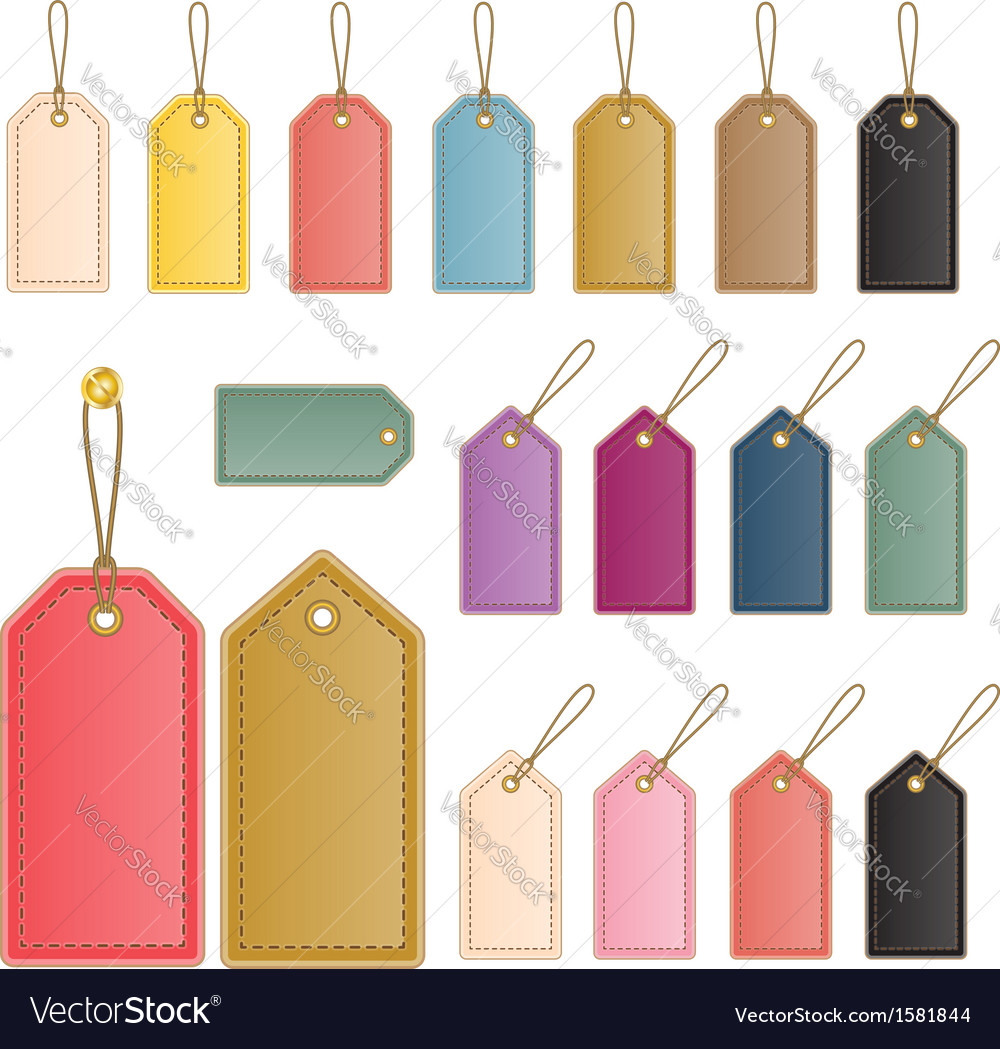 Leather price tag vector