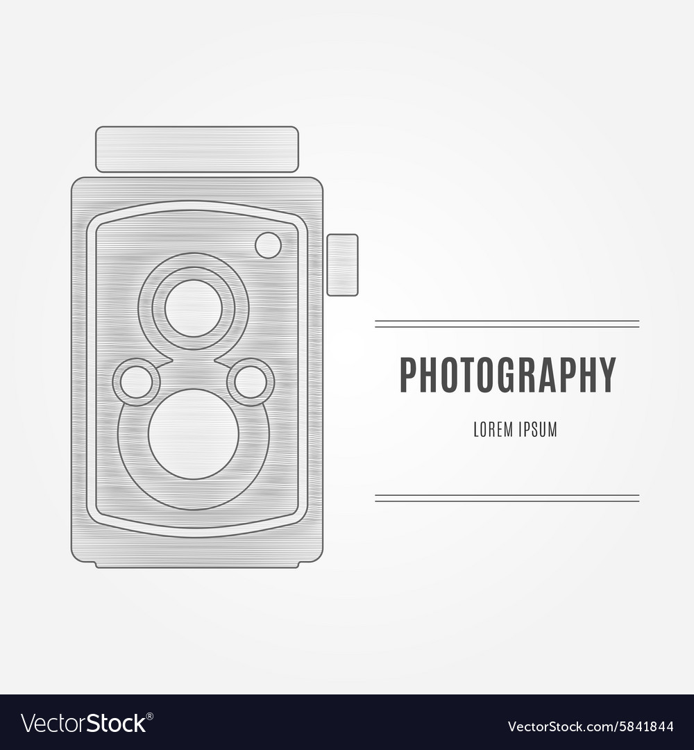 Old camera  branding identity element isolated vector