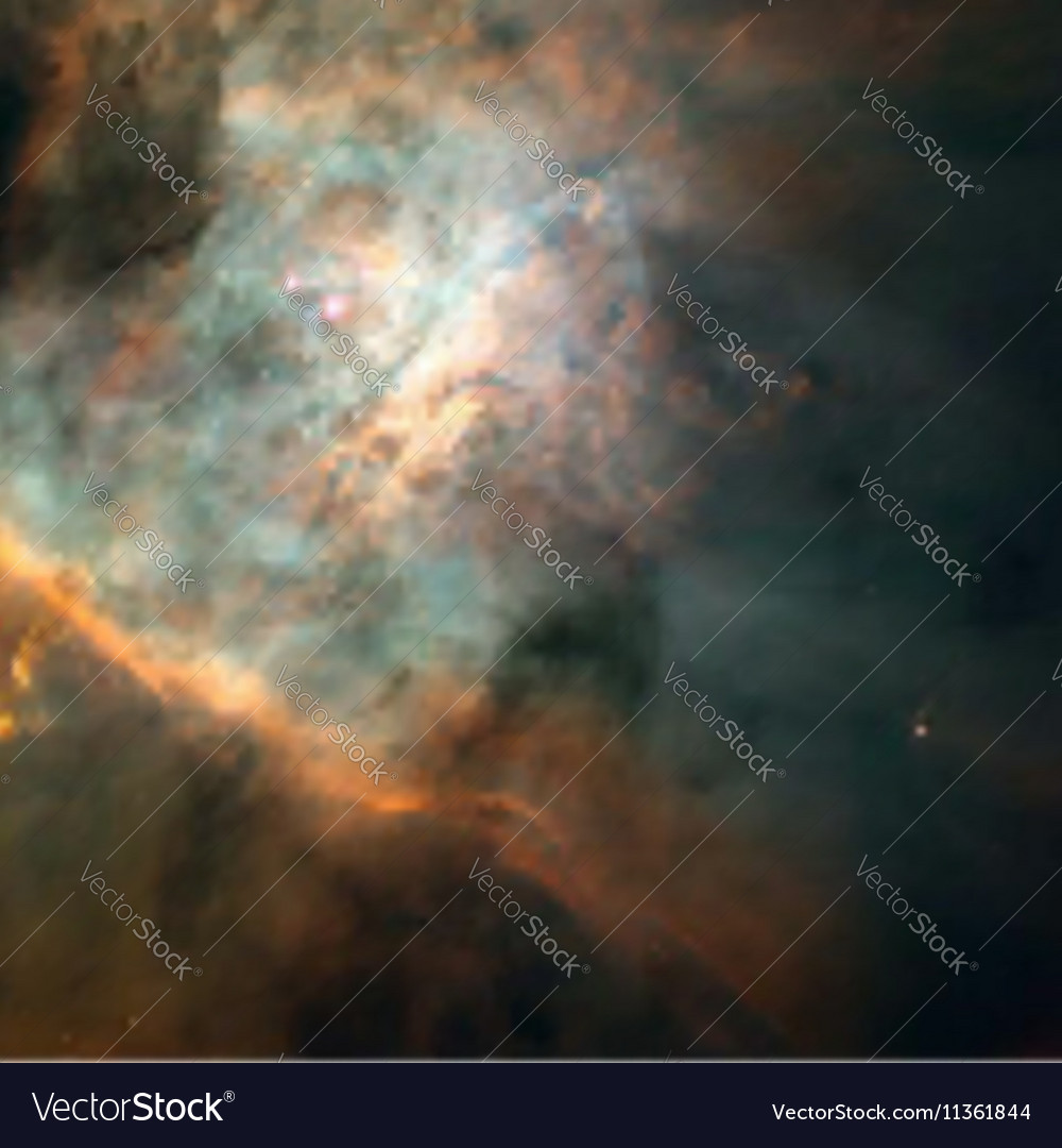 Realistic space galactic background vector