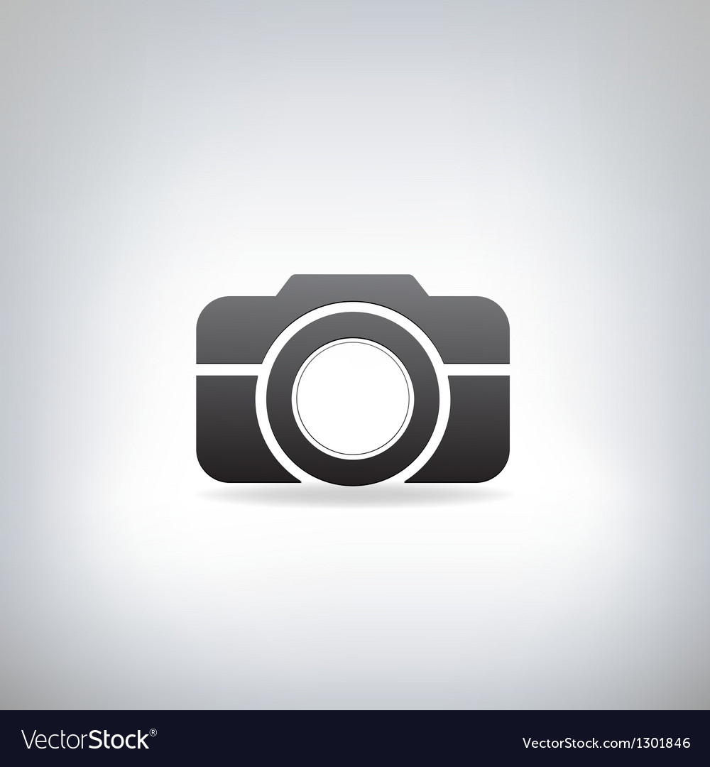 Stylized photo camera vector