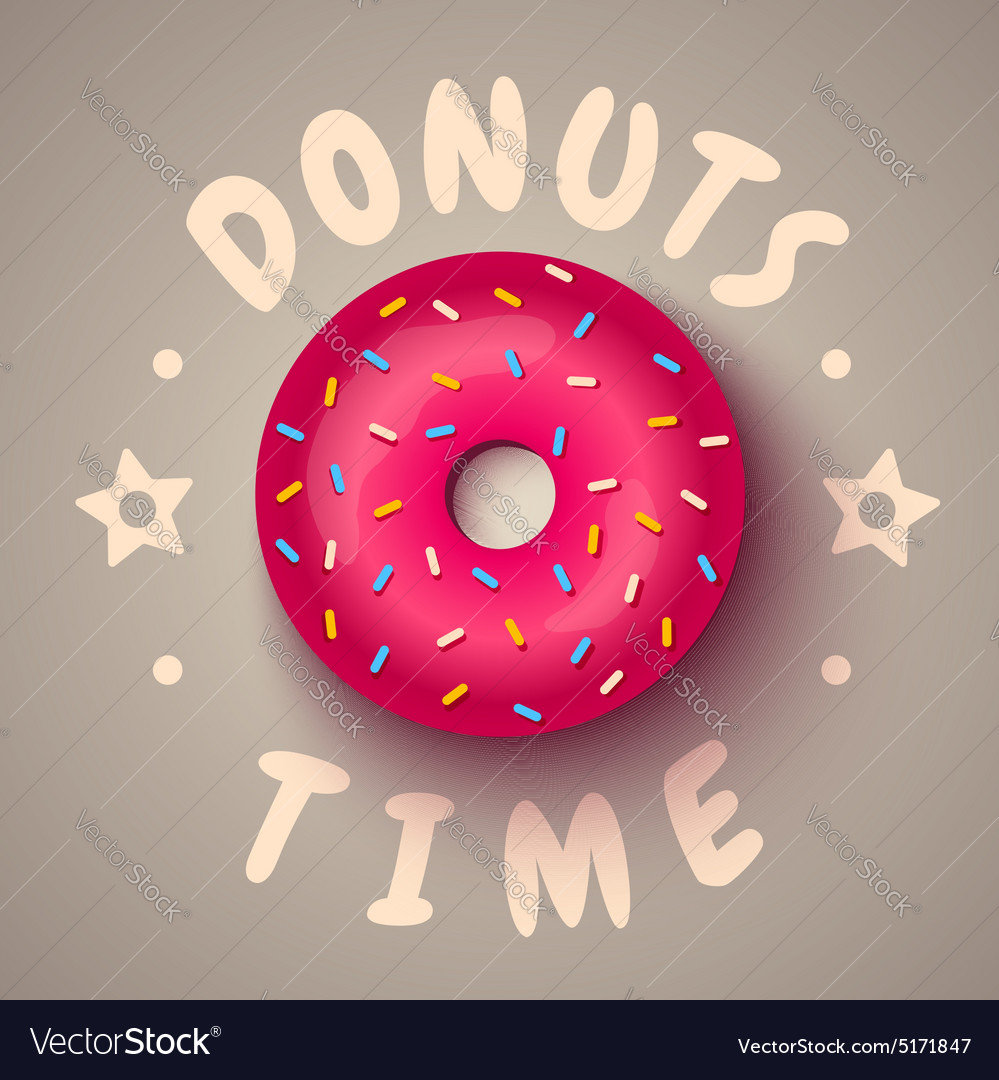 Donut time vector