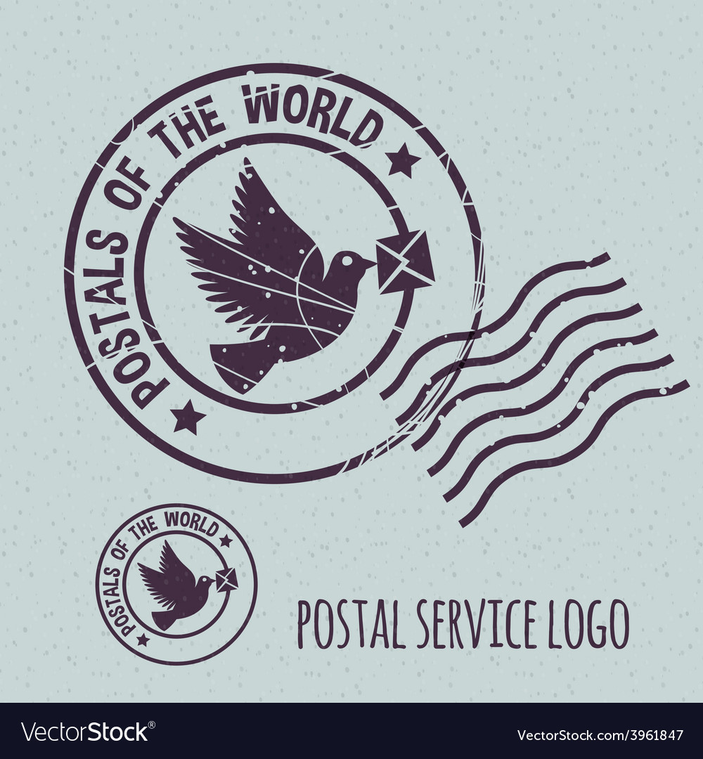 Flying dove with envelope vector