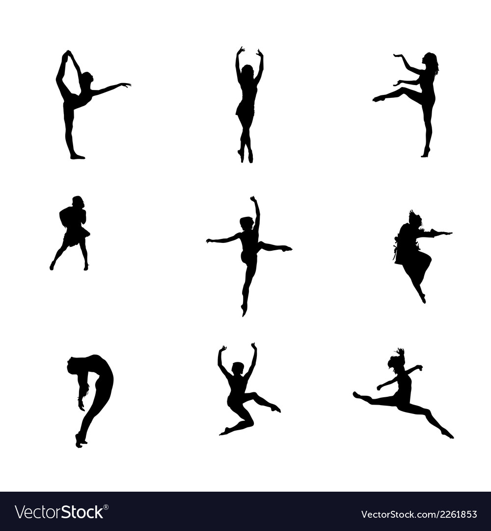 Girl dance icon symbol vector
