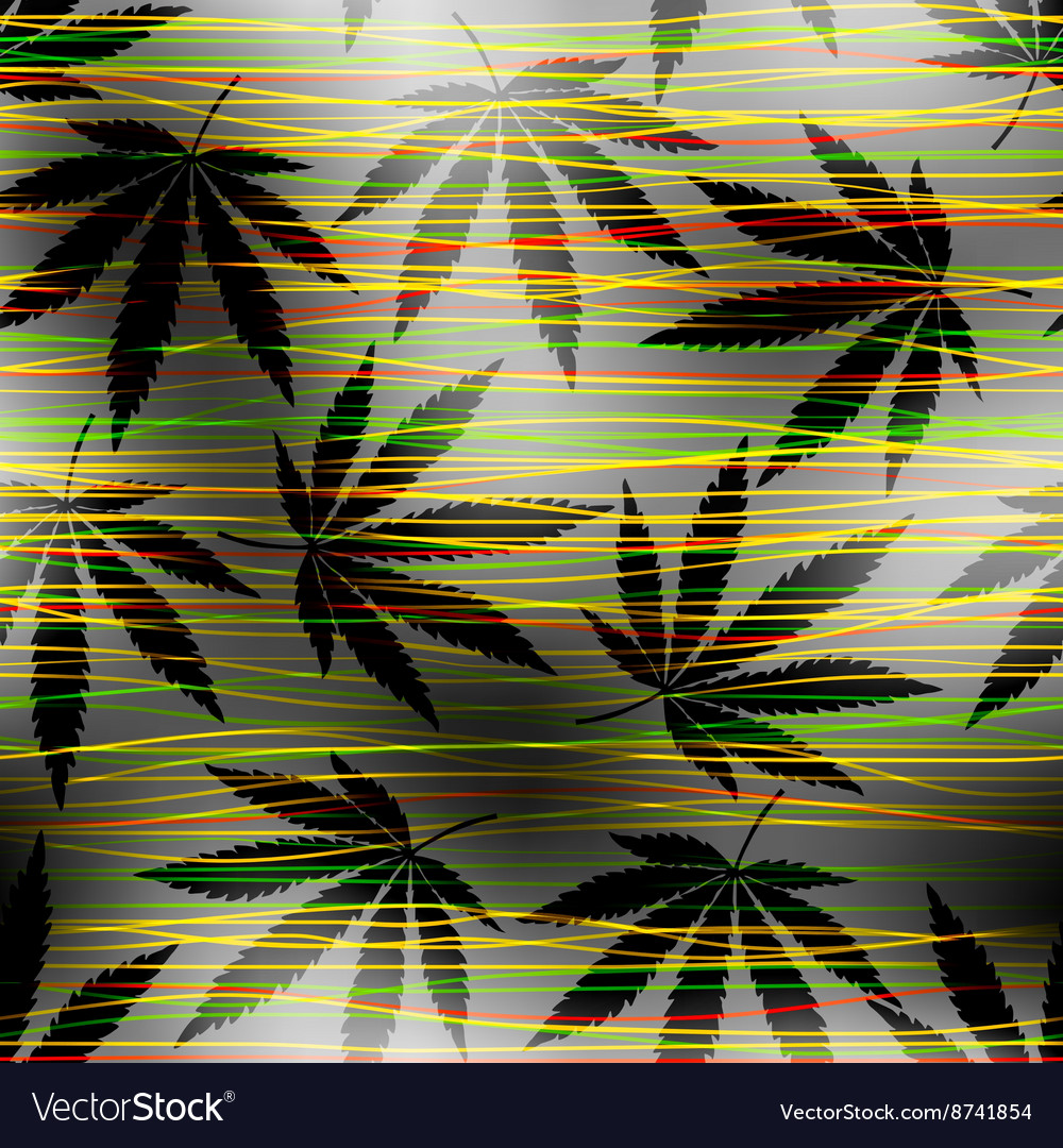 Maryhuana hemp pattern vector