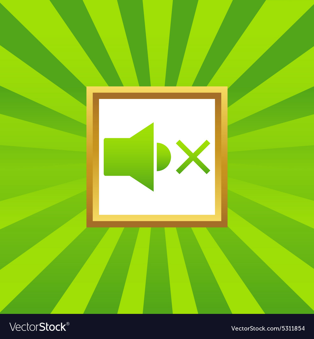 Mured sound picture icon vector