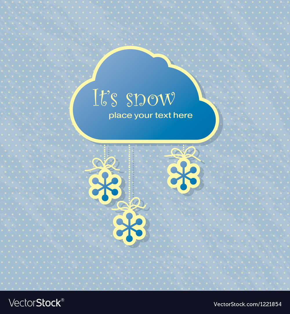 Snow card vector