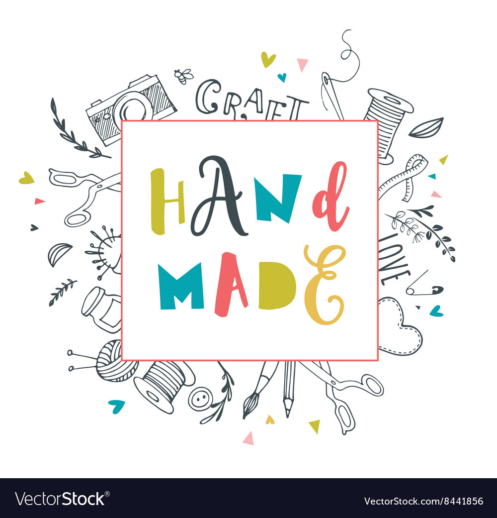 Handmade crafts workshop art fair and festival vector