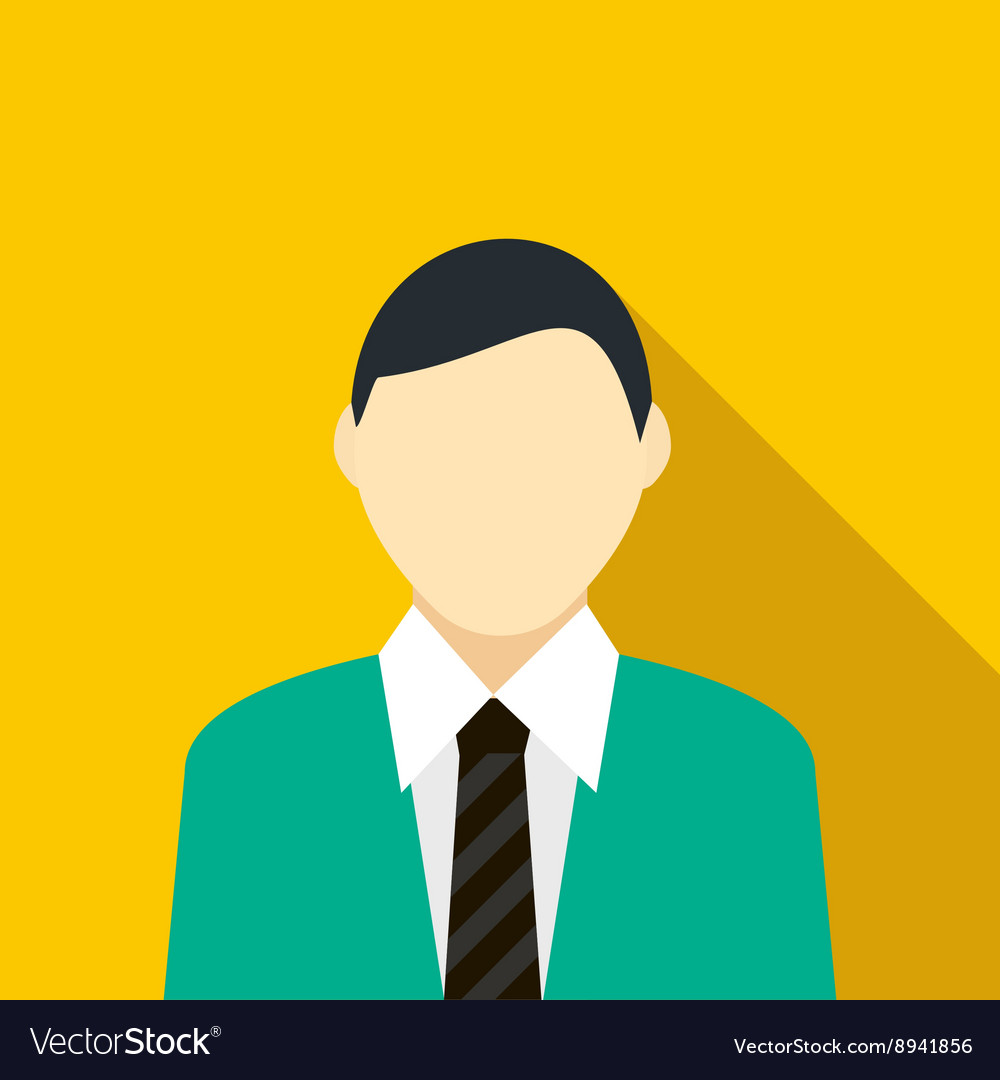 Man in the green suit icon flat style vector