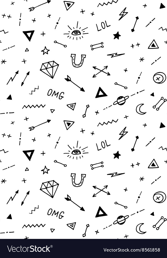 Pattern with old school tattoo elements vector