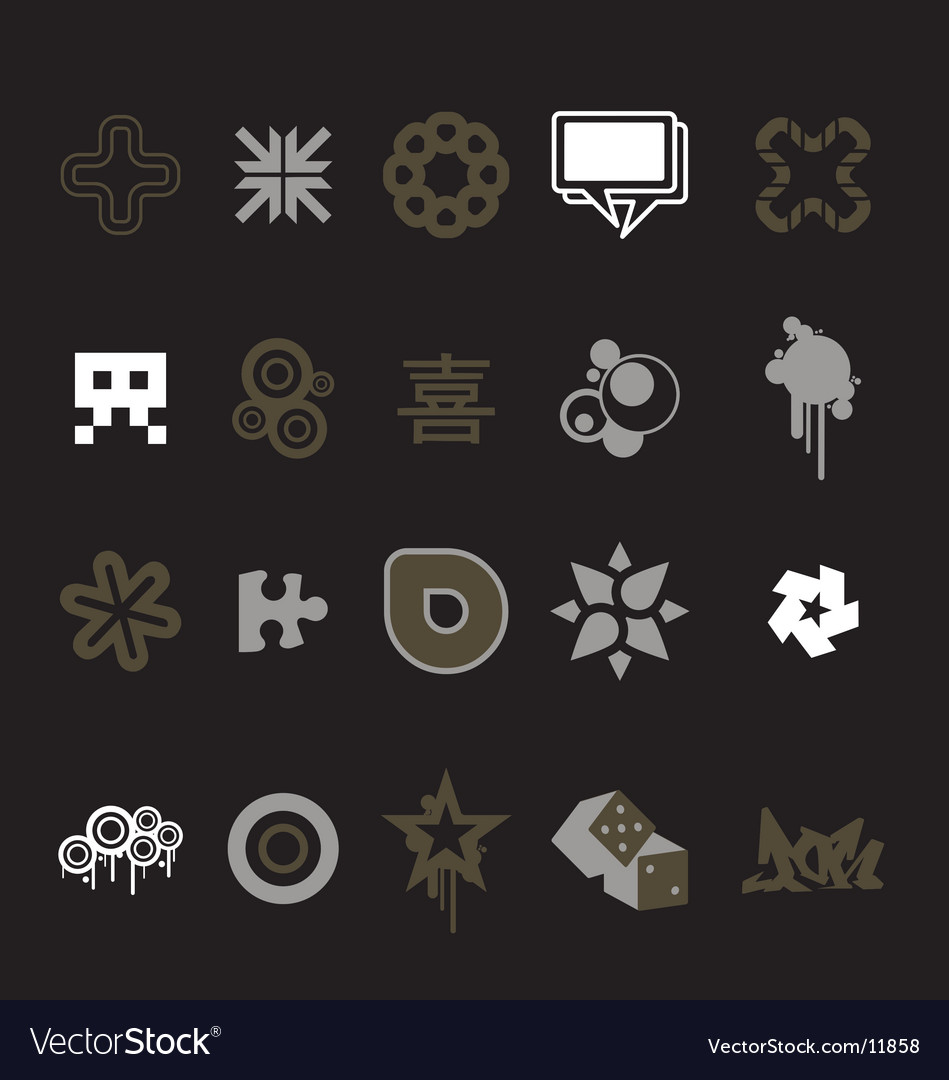 Urban design icons vector
