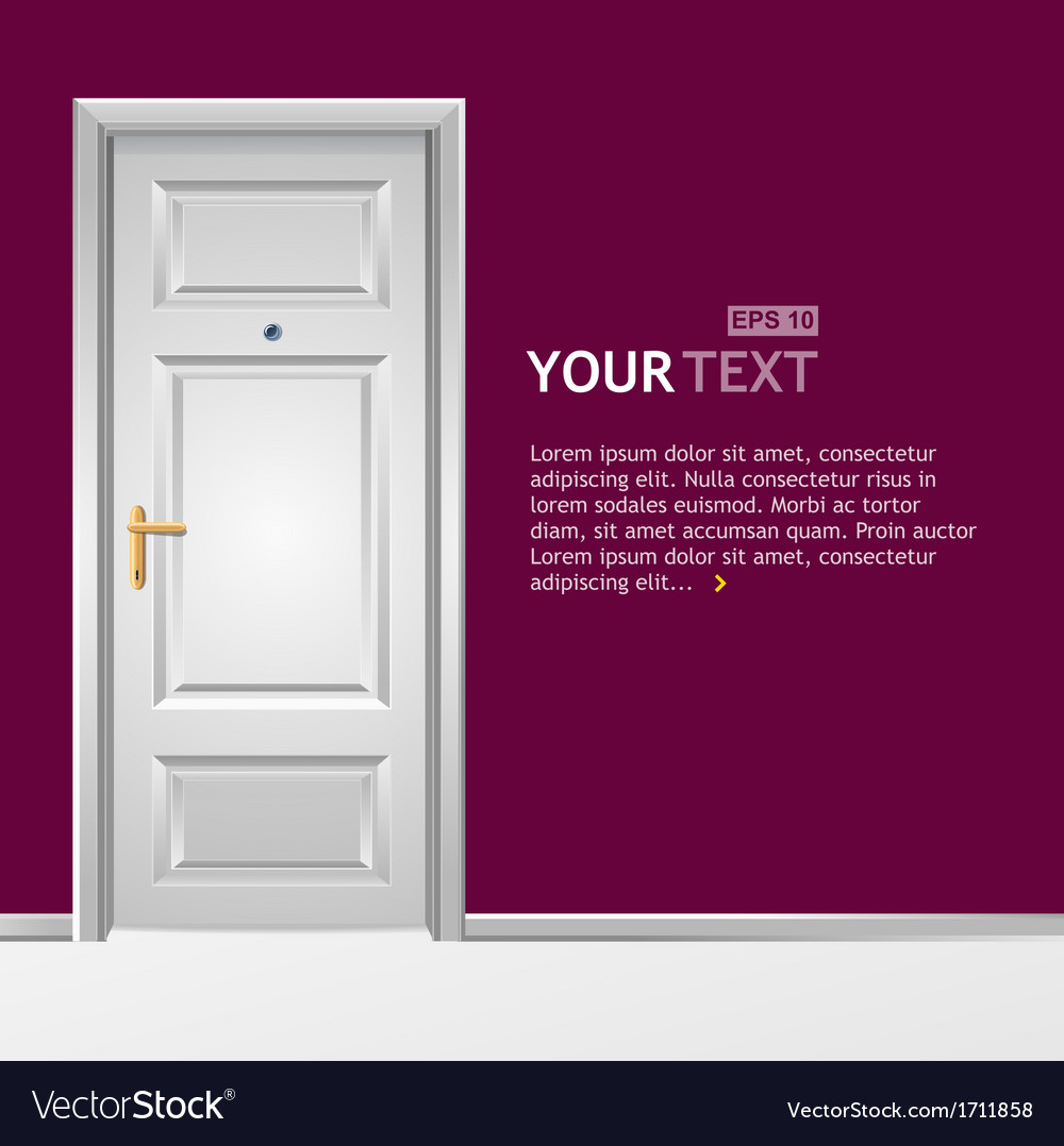 White door in the wall vector