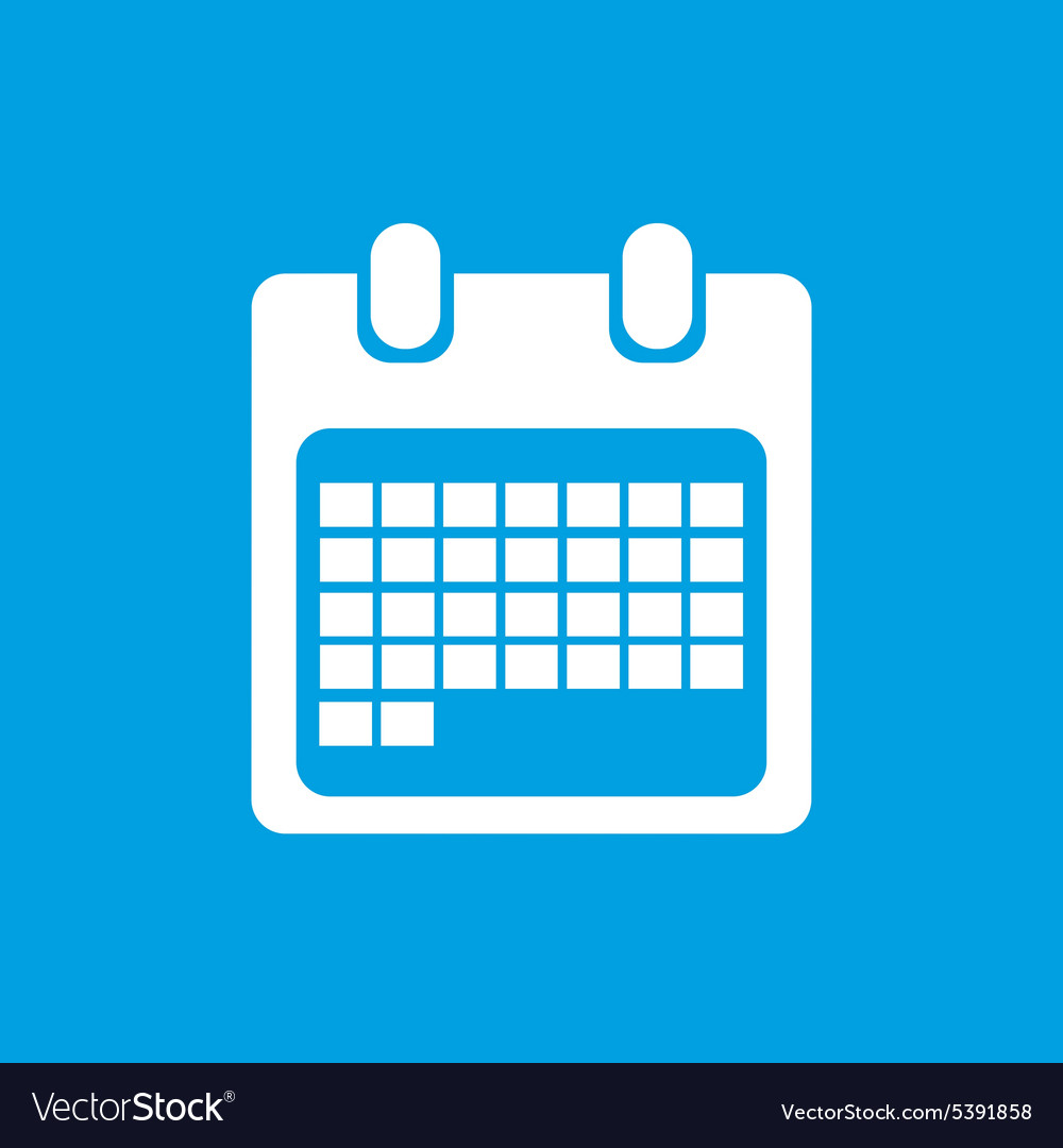 White month calendar icon vector