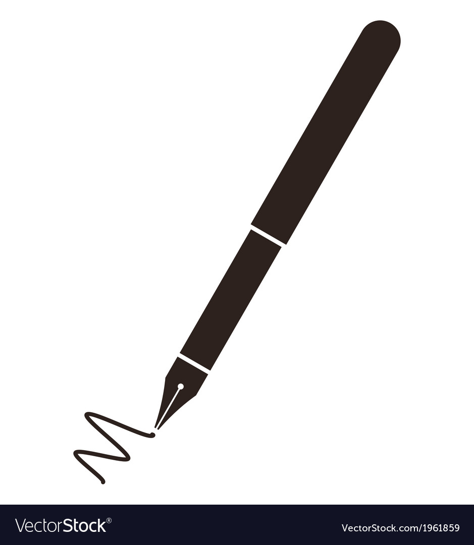 Fountain pen symbol vector