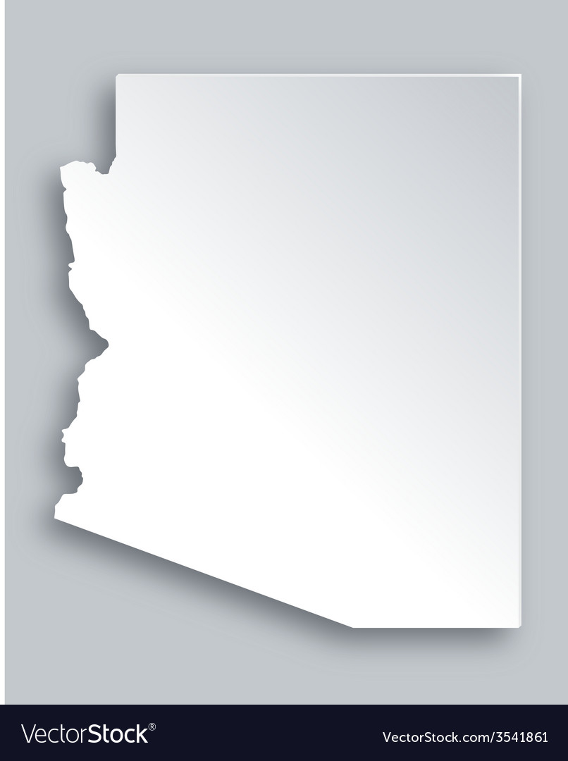 Map of arizona vector
