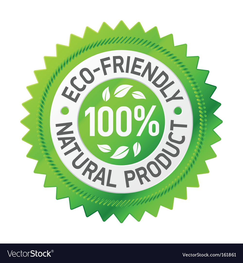 Sign of ecofriendly product vector