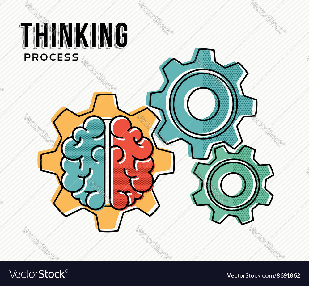 Thinking process modern business concept design vector