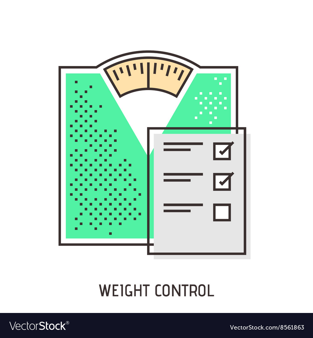 Bathroom scales modern outline icon vector