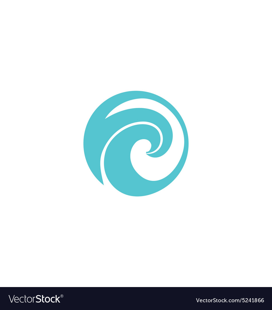 Water wave icon abstract logo vector