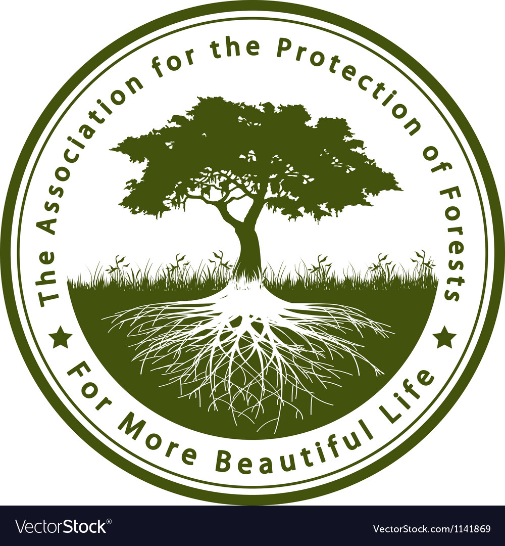 Association for the protection of forests vector