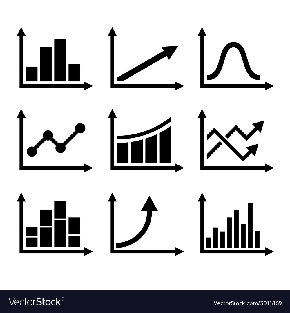 Business infographic graph icons set vector