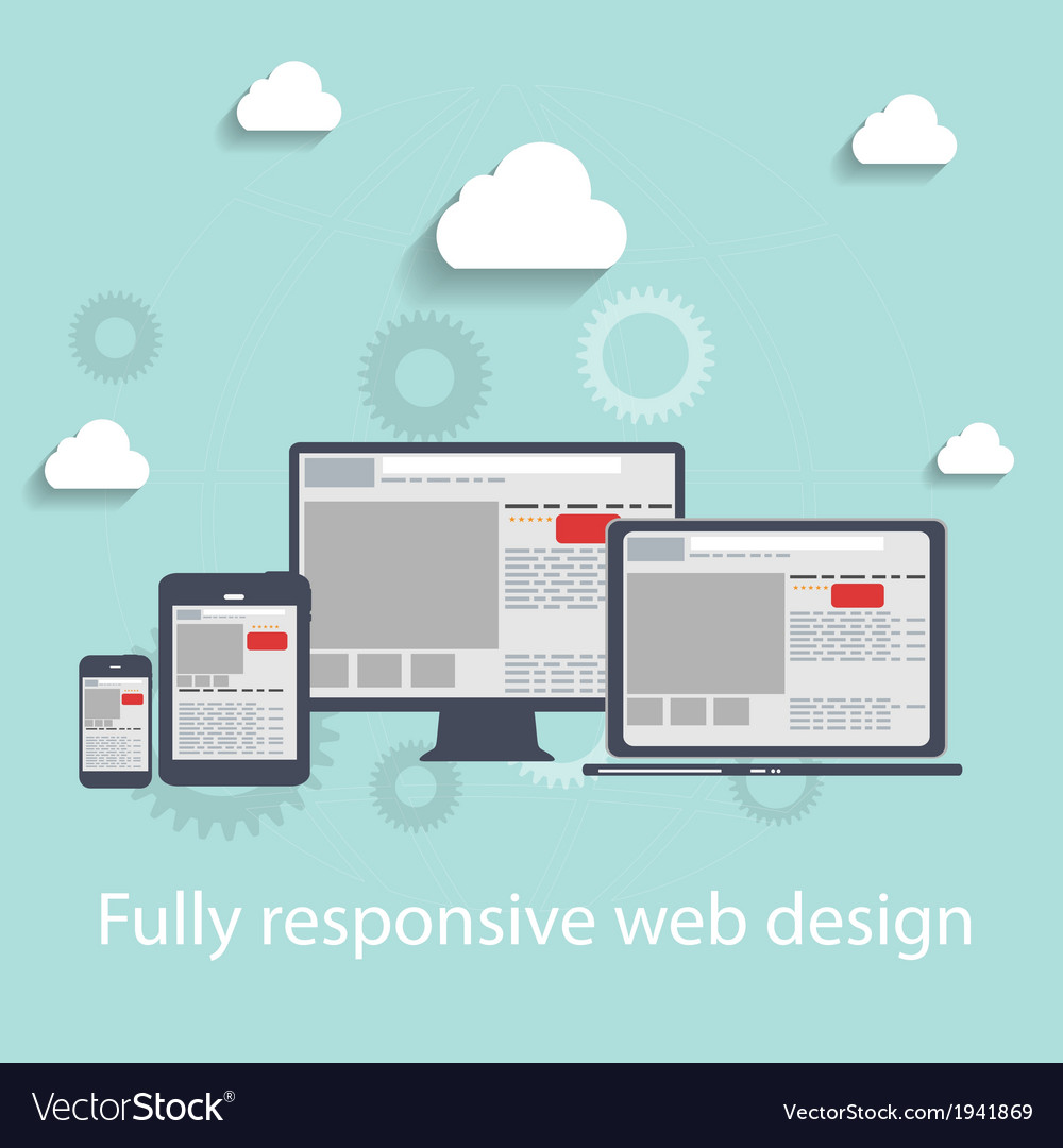Responsive web design icon vector