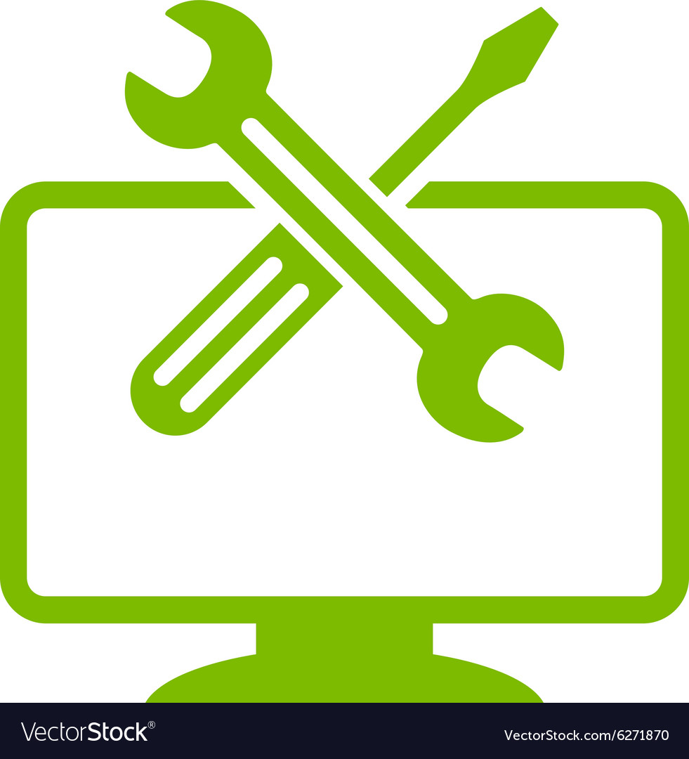 Computer tools icon vector