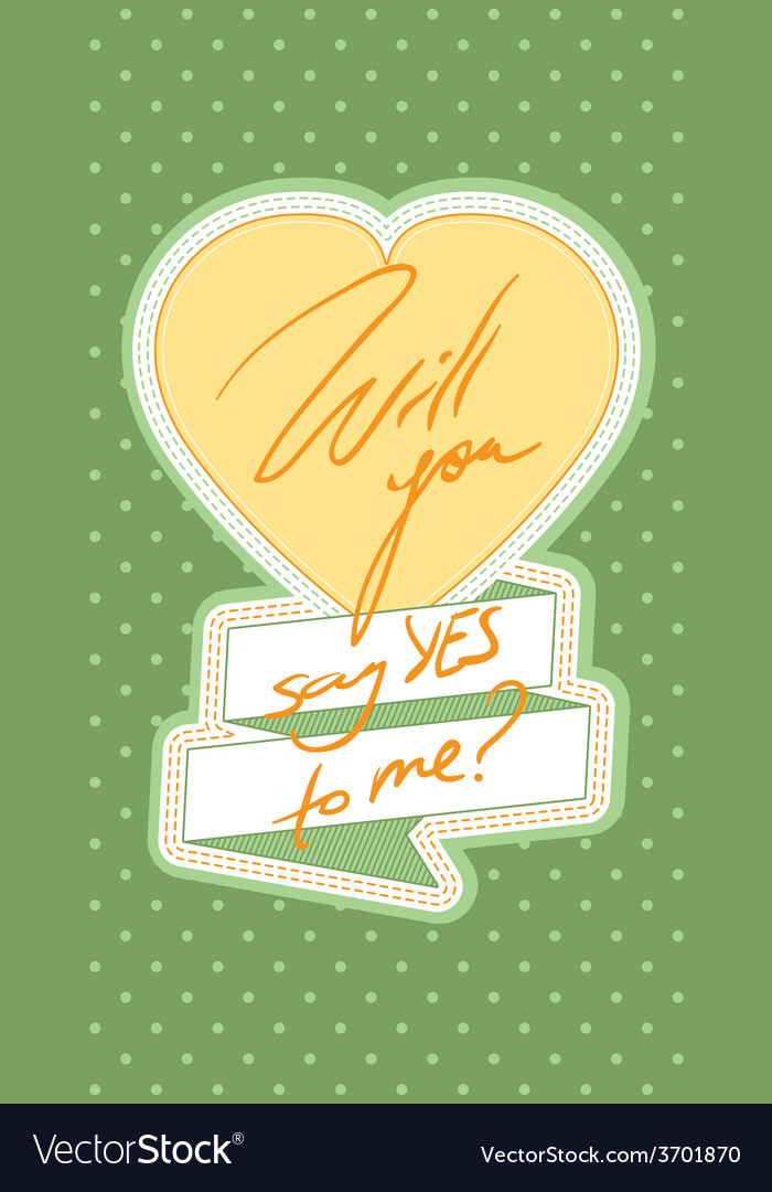 Say yes card vector