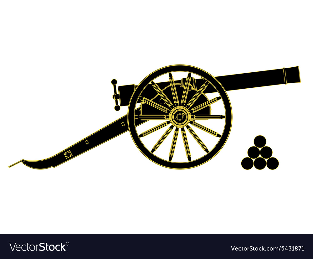 Cannon 18 th century vector