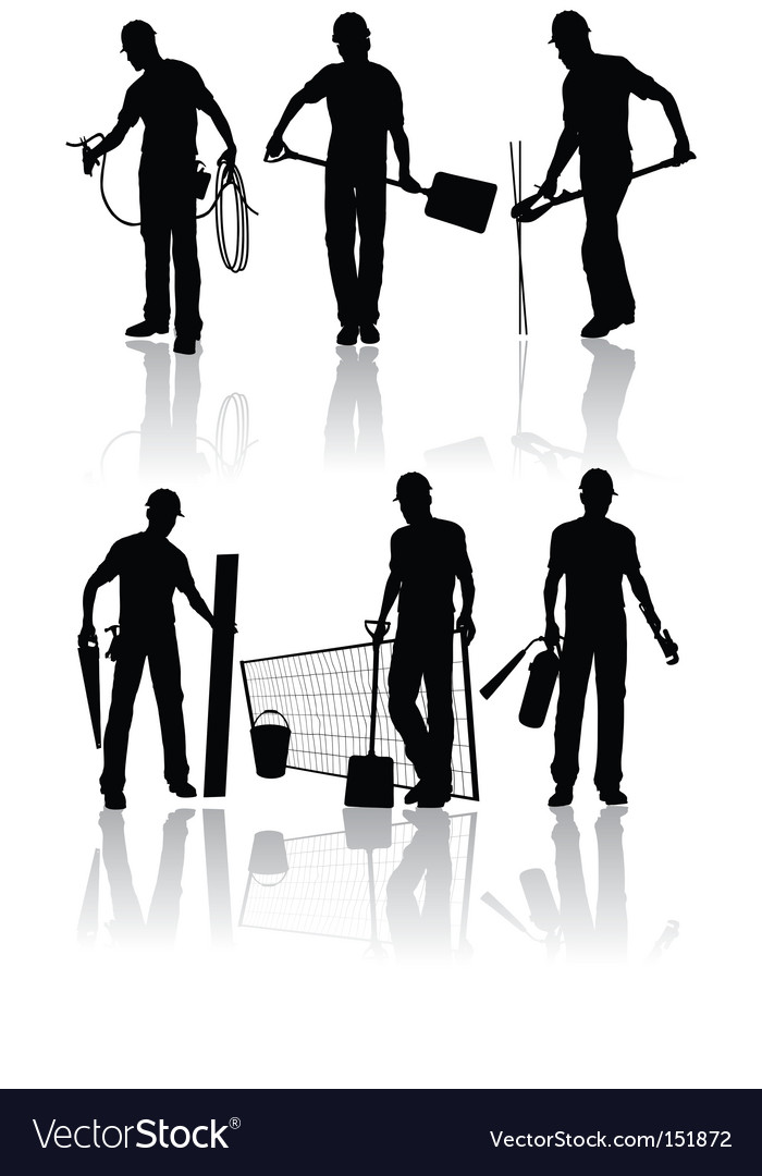 Construction workers vector