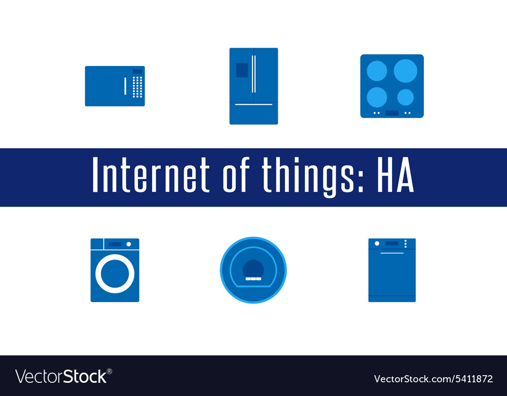 Iot  home appliances icons vector