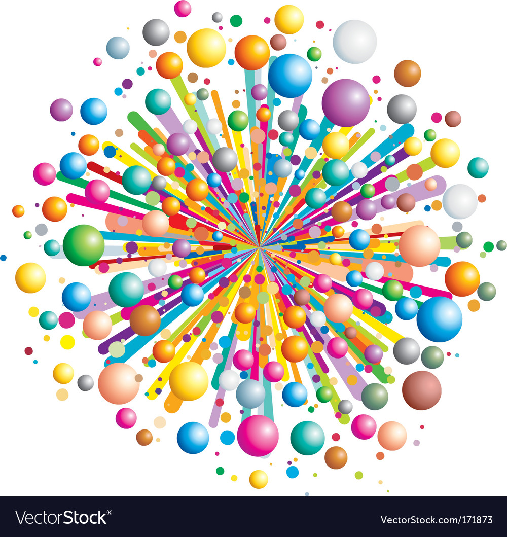 Exploding color vector