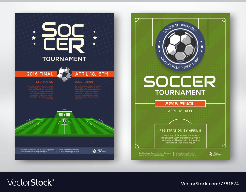 Soccer tournament posters vector