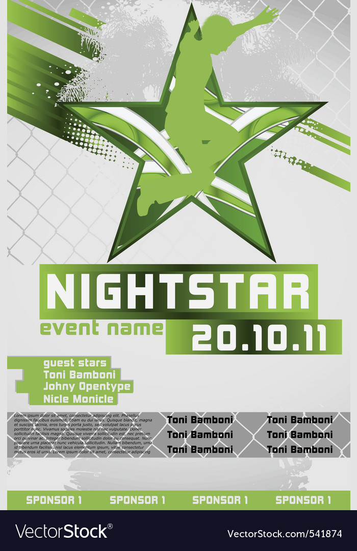 Sport event poster active vector