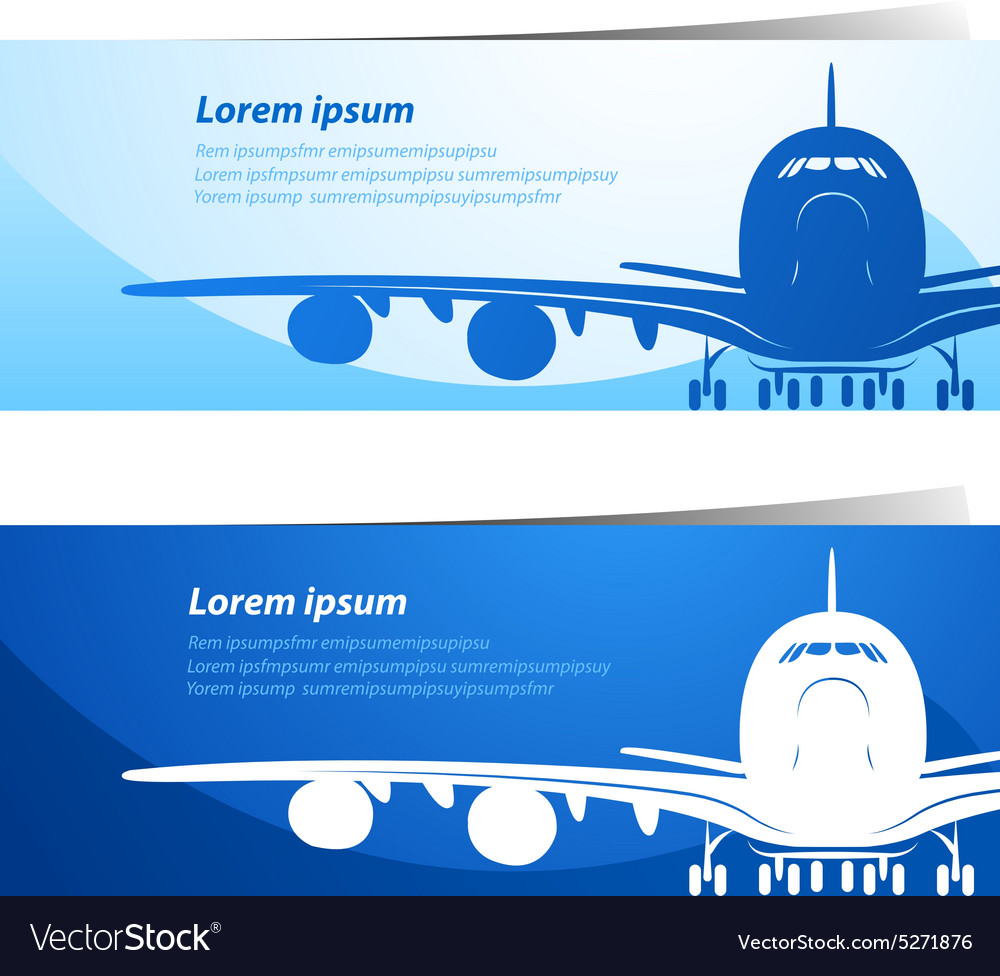 Airplane background2 vector