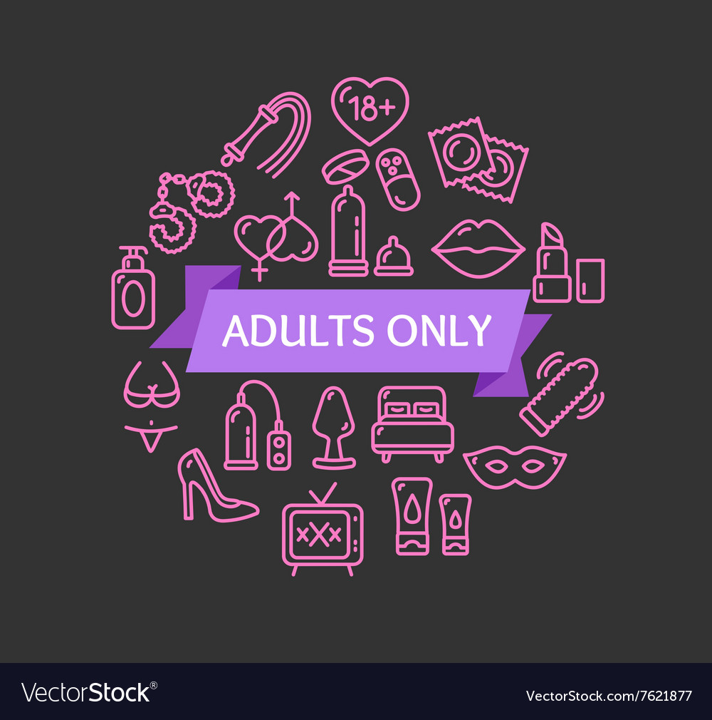 Adults only concept vector