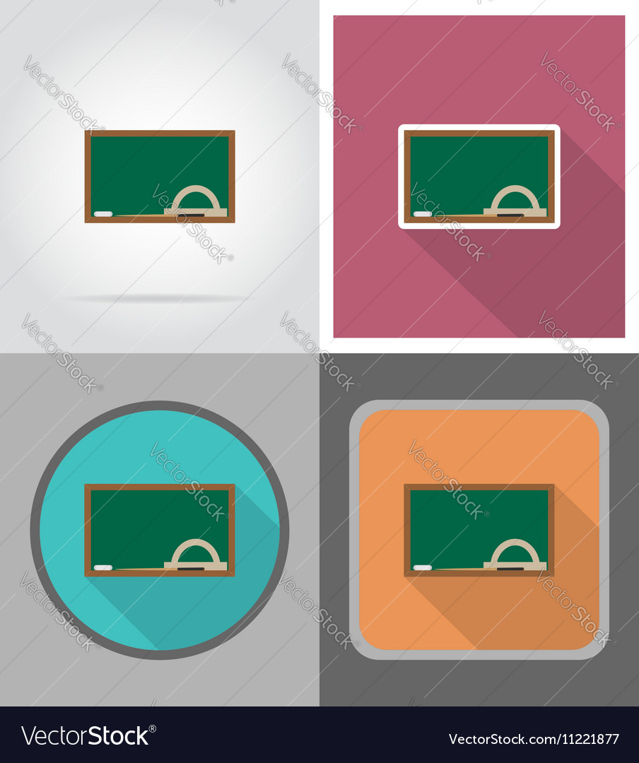 School education flat icons 08 vector