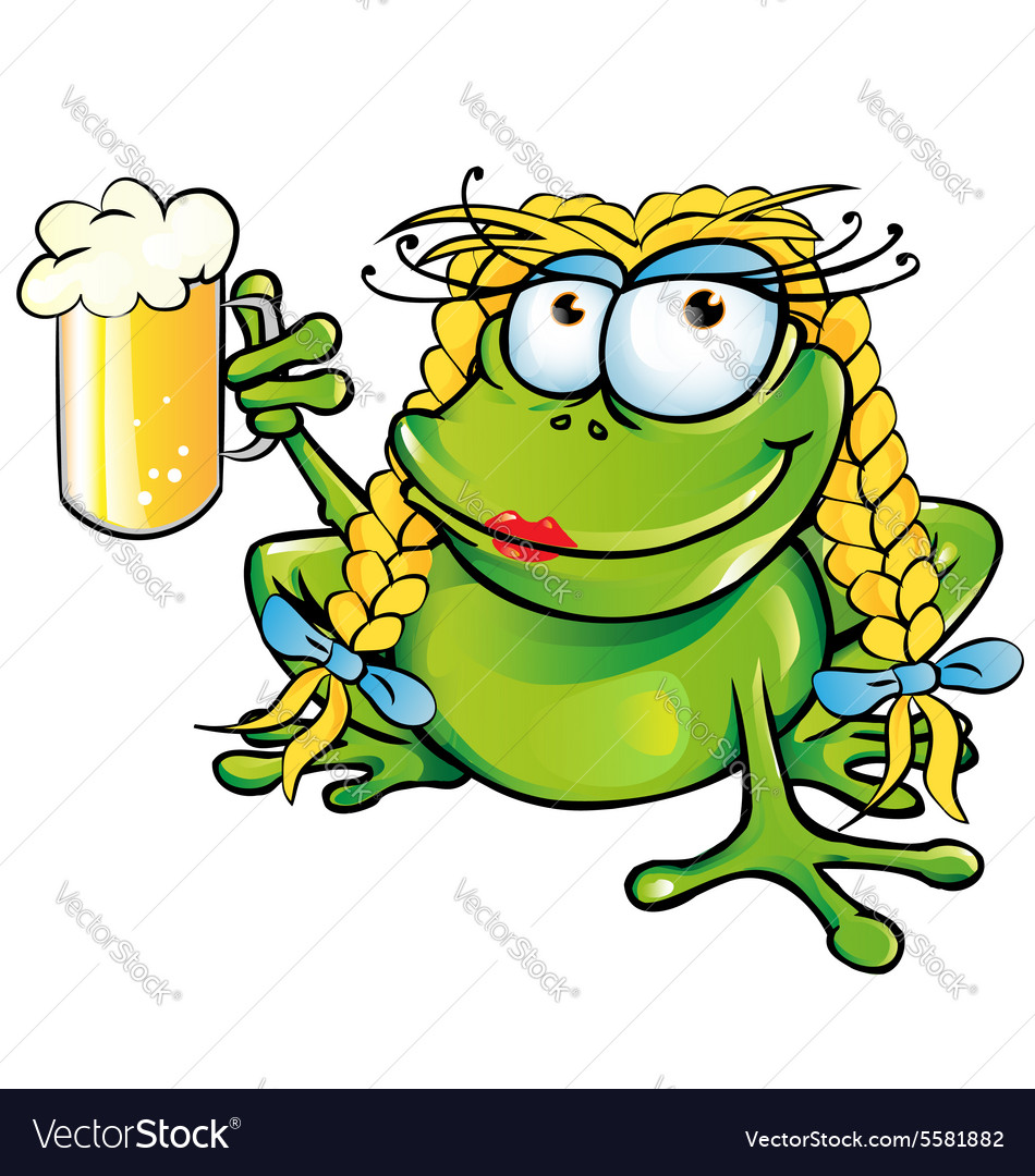 Sexy girl frog cartoon vector