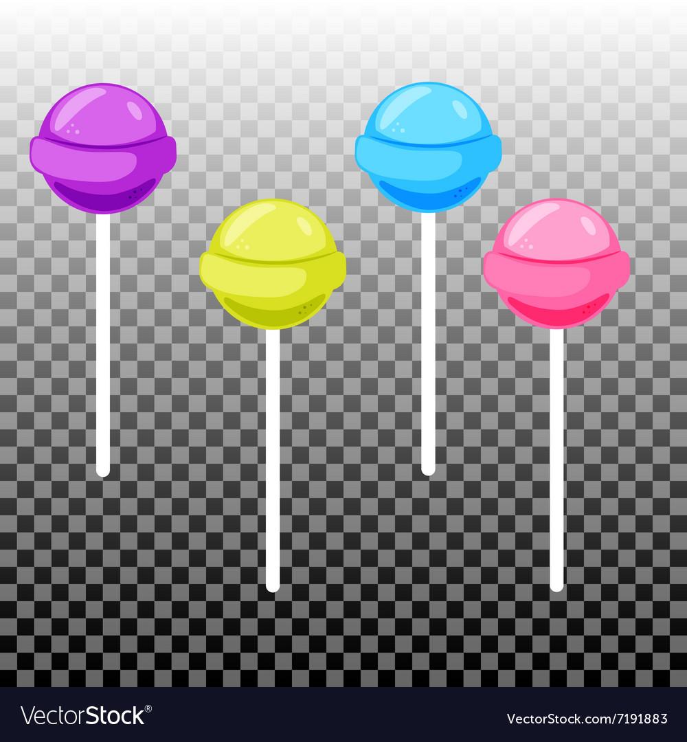 Sweet lollypop candy set colorful sugar canes vector