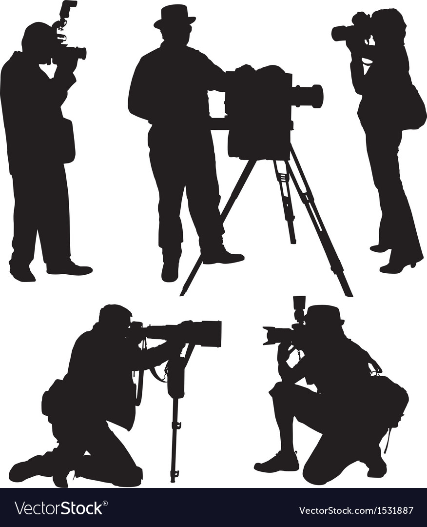 Photographer silhouette vector
