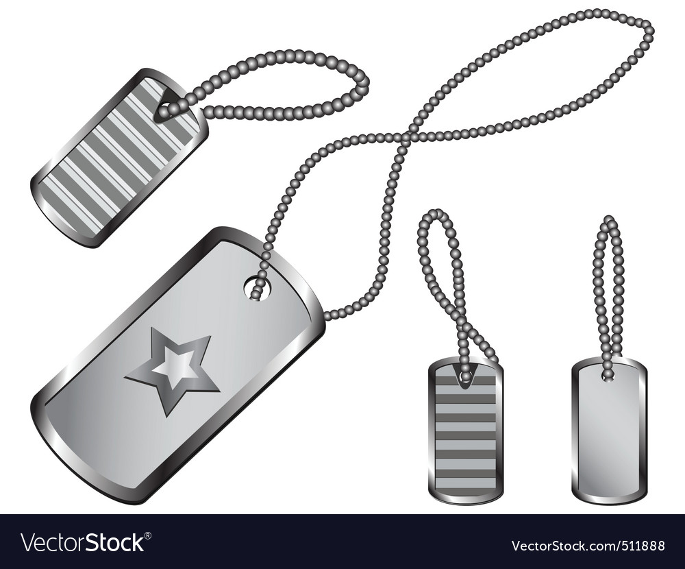 Dog tag set vector