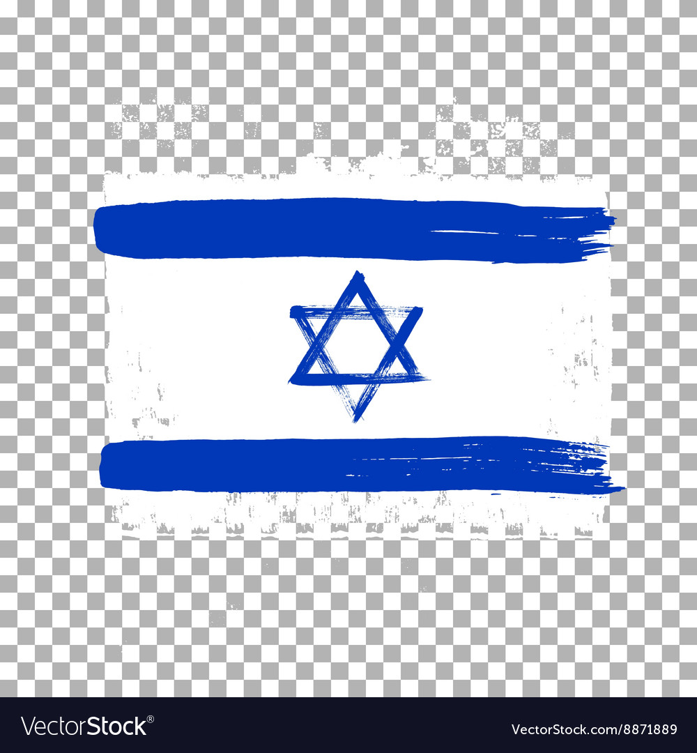 Flag of israel on an empty background vector