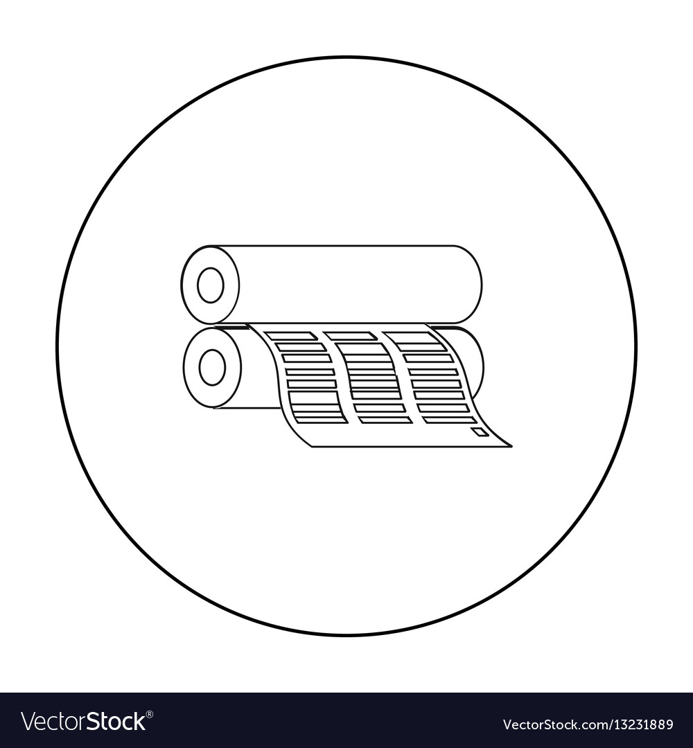 Newspaper printing machine in outline style vector