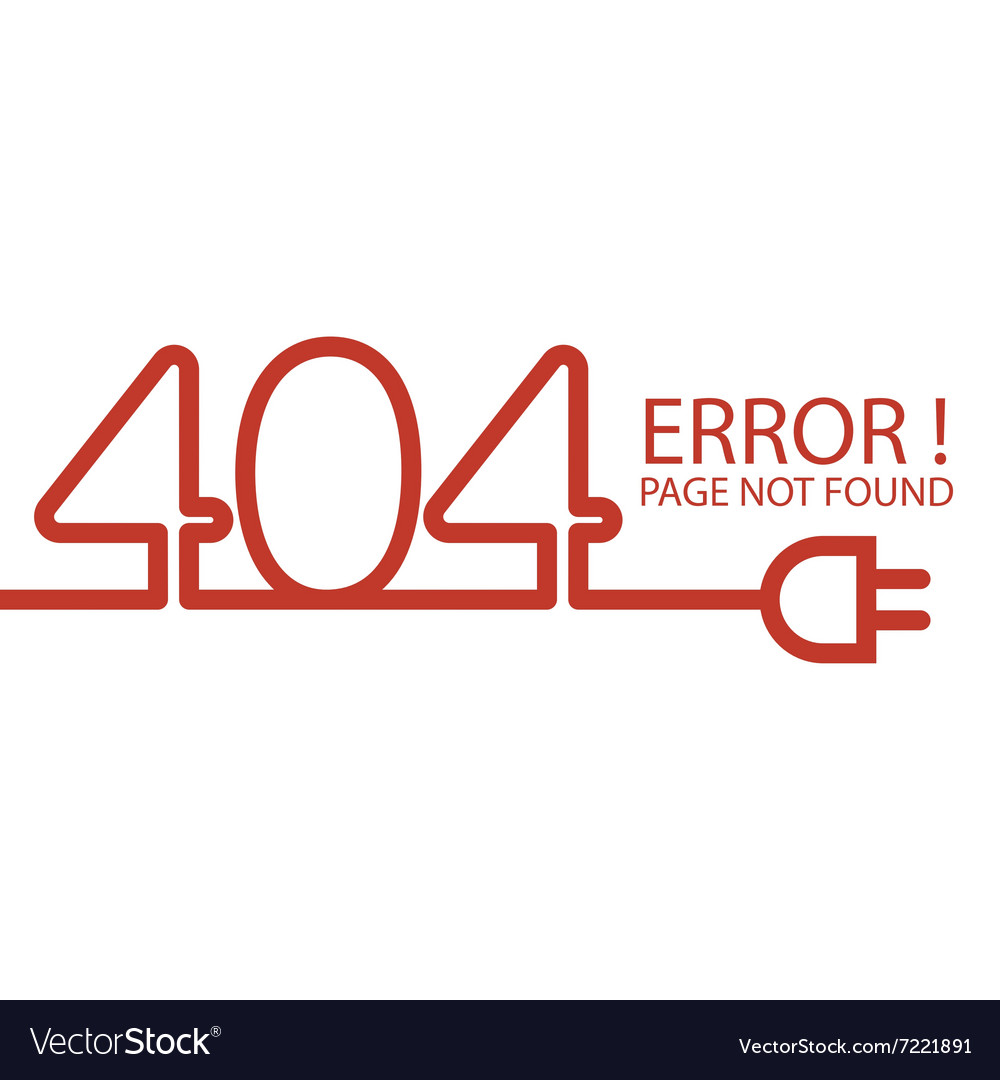 Abstract background 404 connection error vector