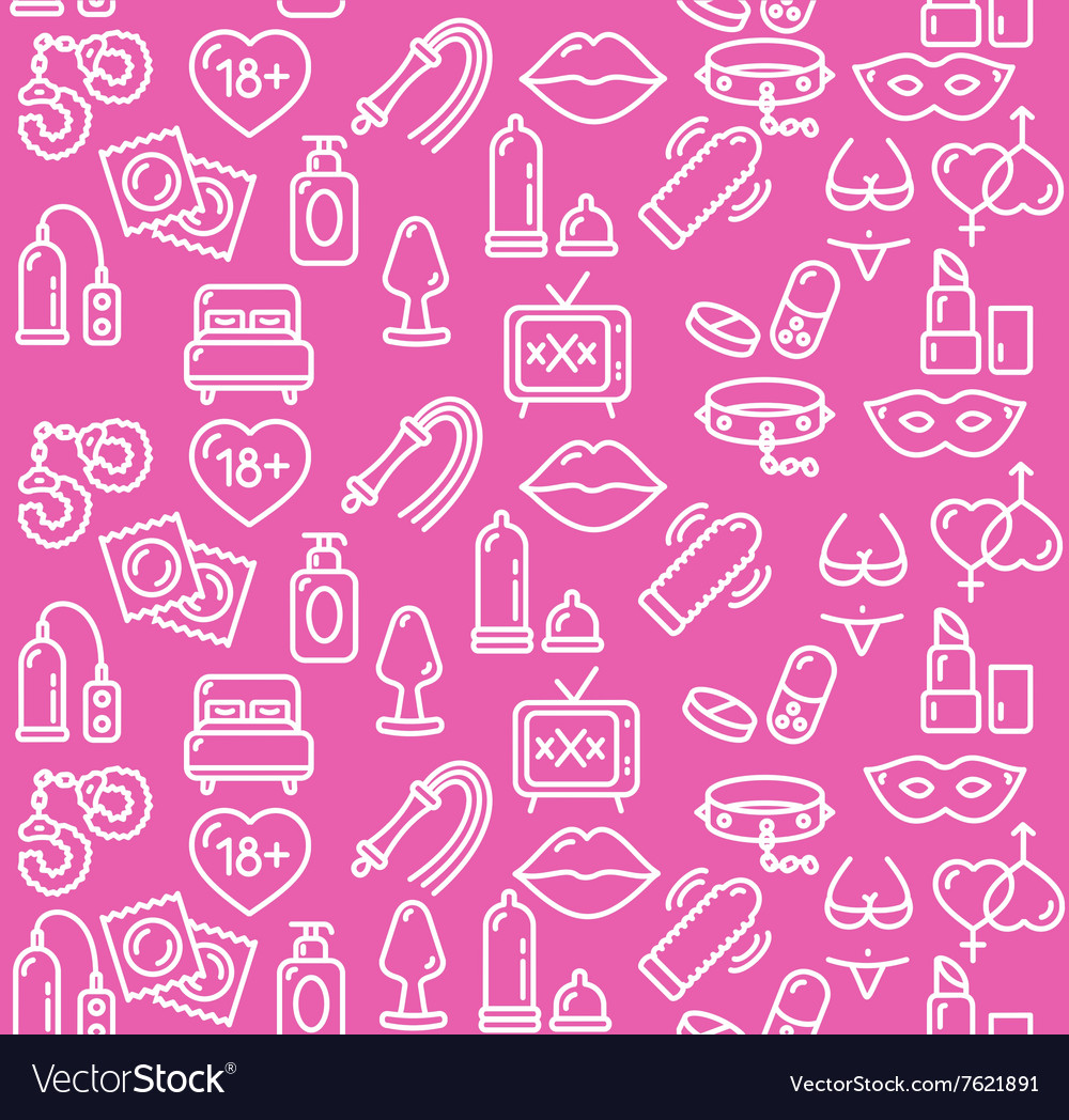 Intim or sex shop background vector