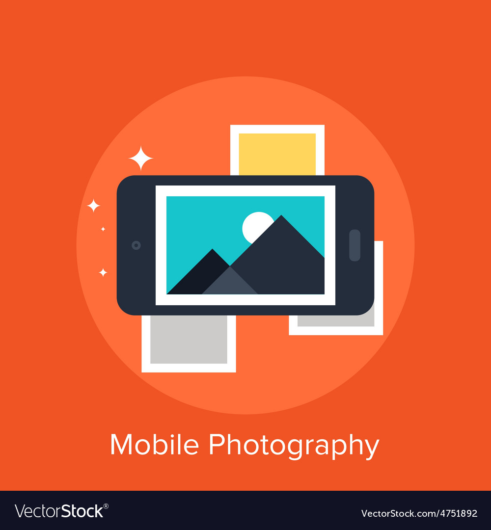 Mobile photography vector