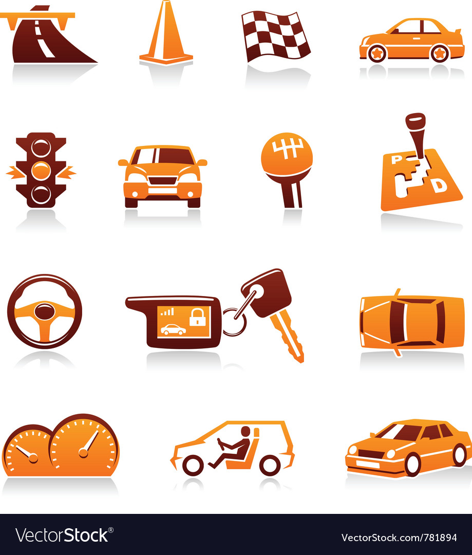 Automotive icons vector
