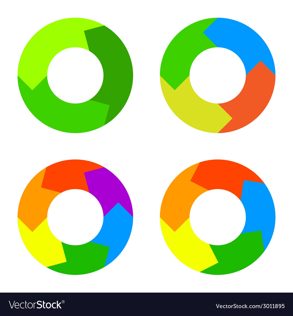 Circle diagram for infographics vector